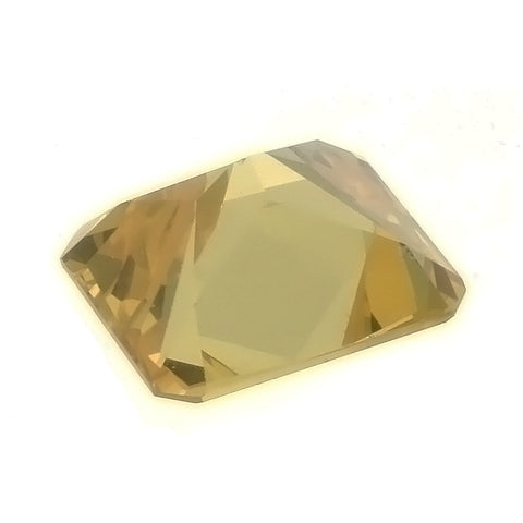 CUBIC ZIRCONIA CITRINE GOLDEN RECTANGLE GIANT FACETED GEMS