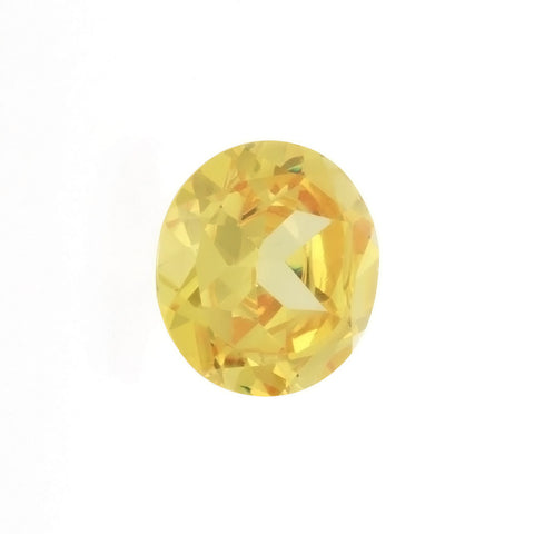 CUBIC ZIRCONIA CITRINE GOLDEN OVAL GIANT FACETED GEMS