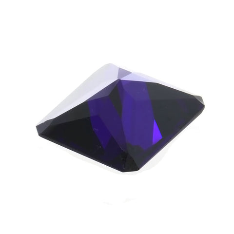 CUBIC ZIRCONIA ALEXANDRITE RECTANGLE GIANT FACETED GEMS