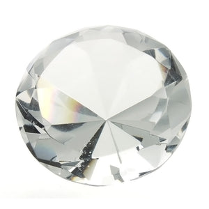 EASTERN CRYSTAL WHITE ROUND GIANT FACETED GEMS