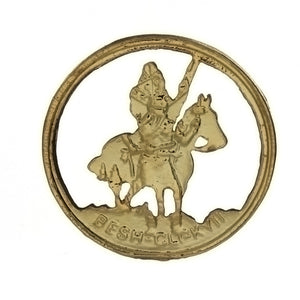 METAL PATRIOTIC AMERICAN INDIAN HORSED INSERT
