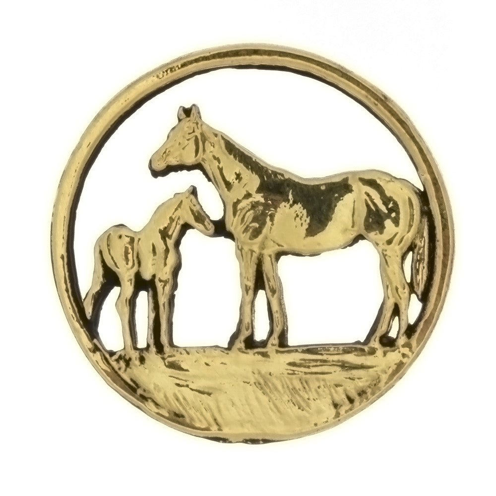 METAL ANIMAL MARE & FOAL INSERT