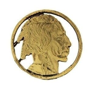 METAL PATRIOTIC AMERICAN INDIAN BUST INSERT