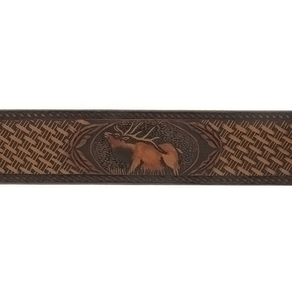 BELT ELK BROWN