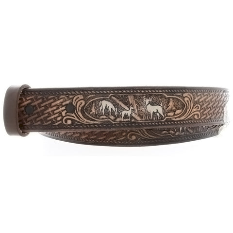 BELT DEER BROWN