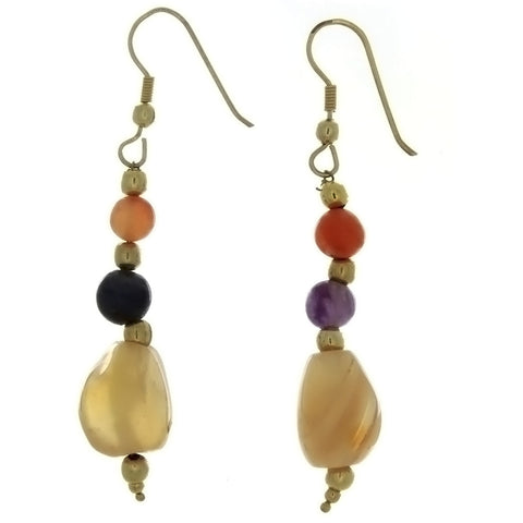 DANGLE BEGGAR BEAD EARRINGS