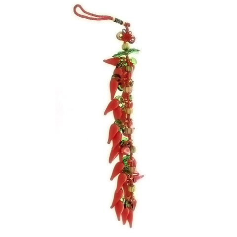 CHRISTMAS ORNAMENT CHILI PEPPER LARGE NOVELTY