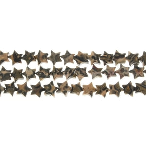 JASPER LEOPARDSKIN STAR 6 MM STRAND