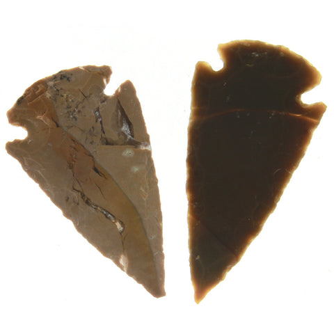 COLLECTIBLE NATURAL AGATE 30 MM ARROWHEAD
