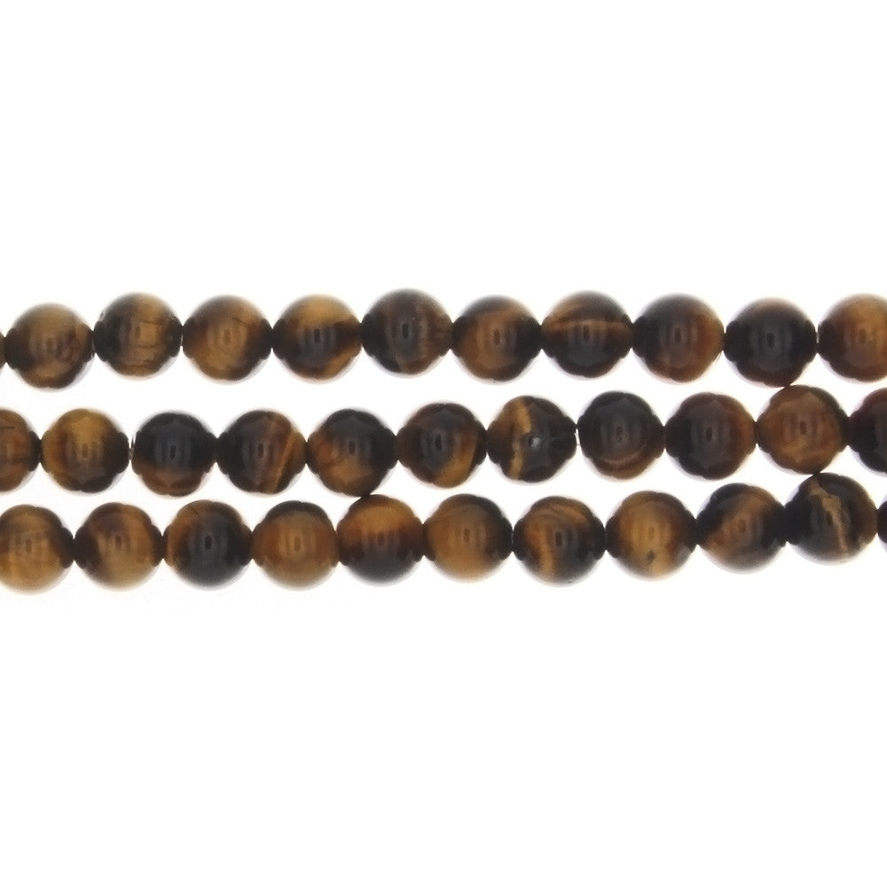 TIGER'S EYE ROUND 6 MM STRAND
