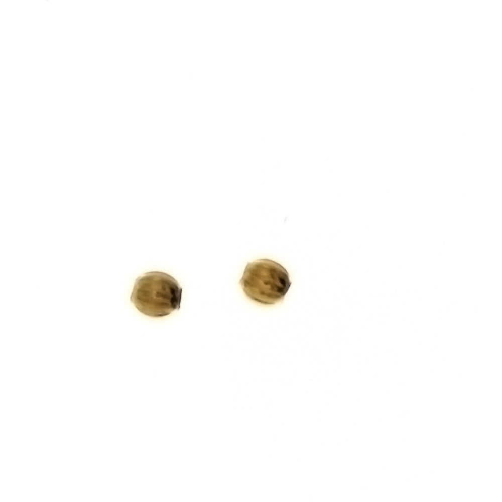 SPACER BEAD ROUND 2 MM FINDING (1 DOZ)