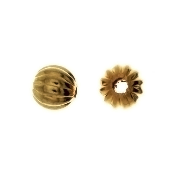SPACER BEAD ROUND 6 MM FINDING (1 DOZ)