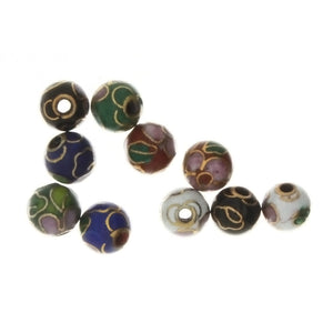CLOISONNE ROUND 6 MM LOOSE