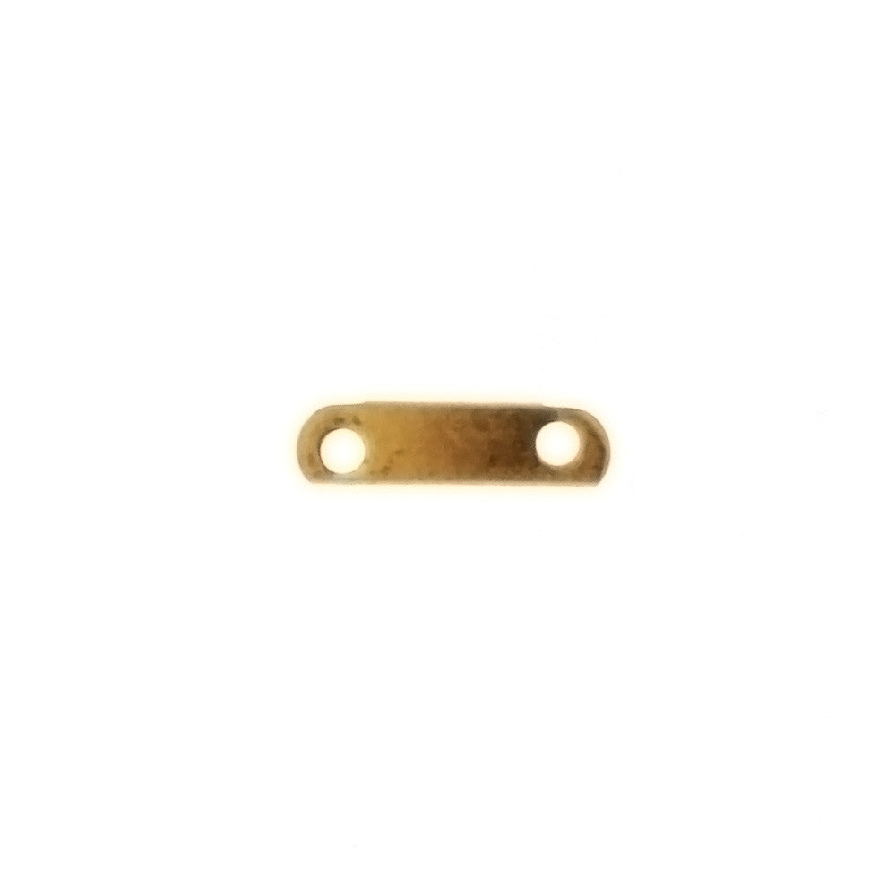 SPACER MULTI-STRAND 2-HOLE FINDING 8MM X 2MM (1 DOZ)