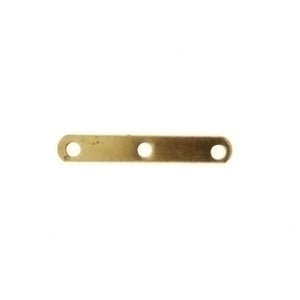 SPACER MULTI-STRAND 3-HOLE FINDING 15MM X 2MM (1 DOZ)