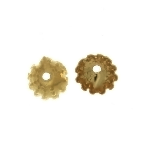 BEAD CAP 6 MM BASE FINDING (1 DOZ)