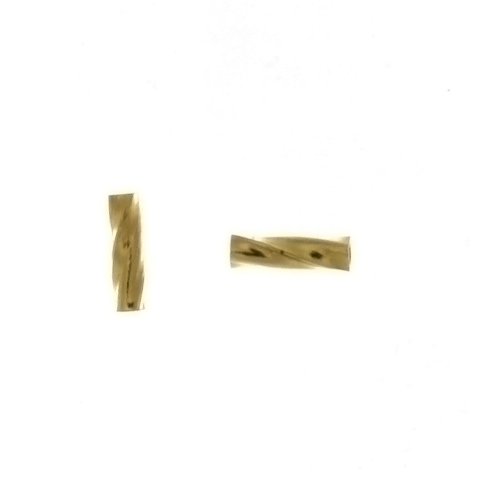 SPACER BEAD TWIST TUBE 6 MM FINDING (1 DOZ)