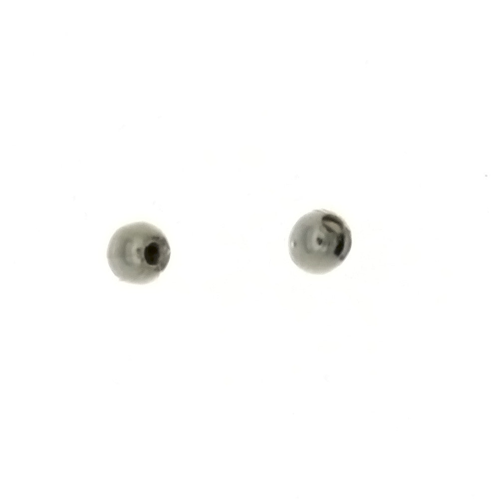 SPACER BEAD ROUND 3 MM SS FINDING (1 DOZ)