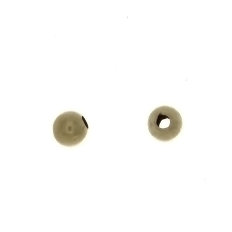SPACER BEAD ROUND 4 MM GF FINDING (1 DOZ)