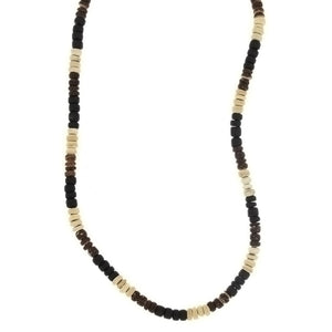 BEADED NATURAL SHELL PUKA HEISEI NECKLACE