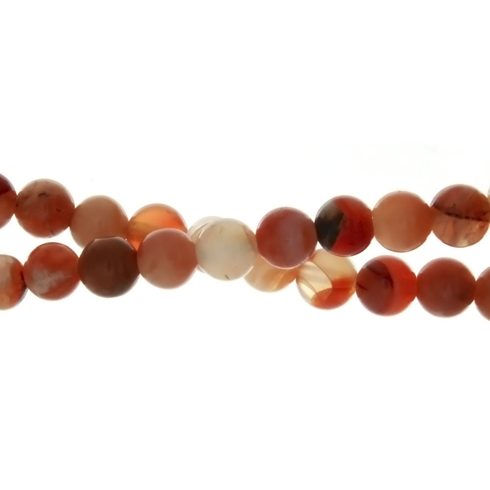 BOTSWANA ORANGE ROUND 6 MM STRAND
