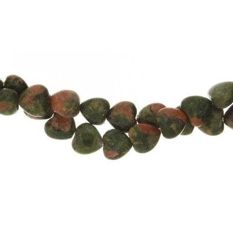 UNAKITE HEART 8 MM STRAND