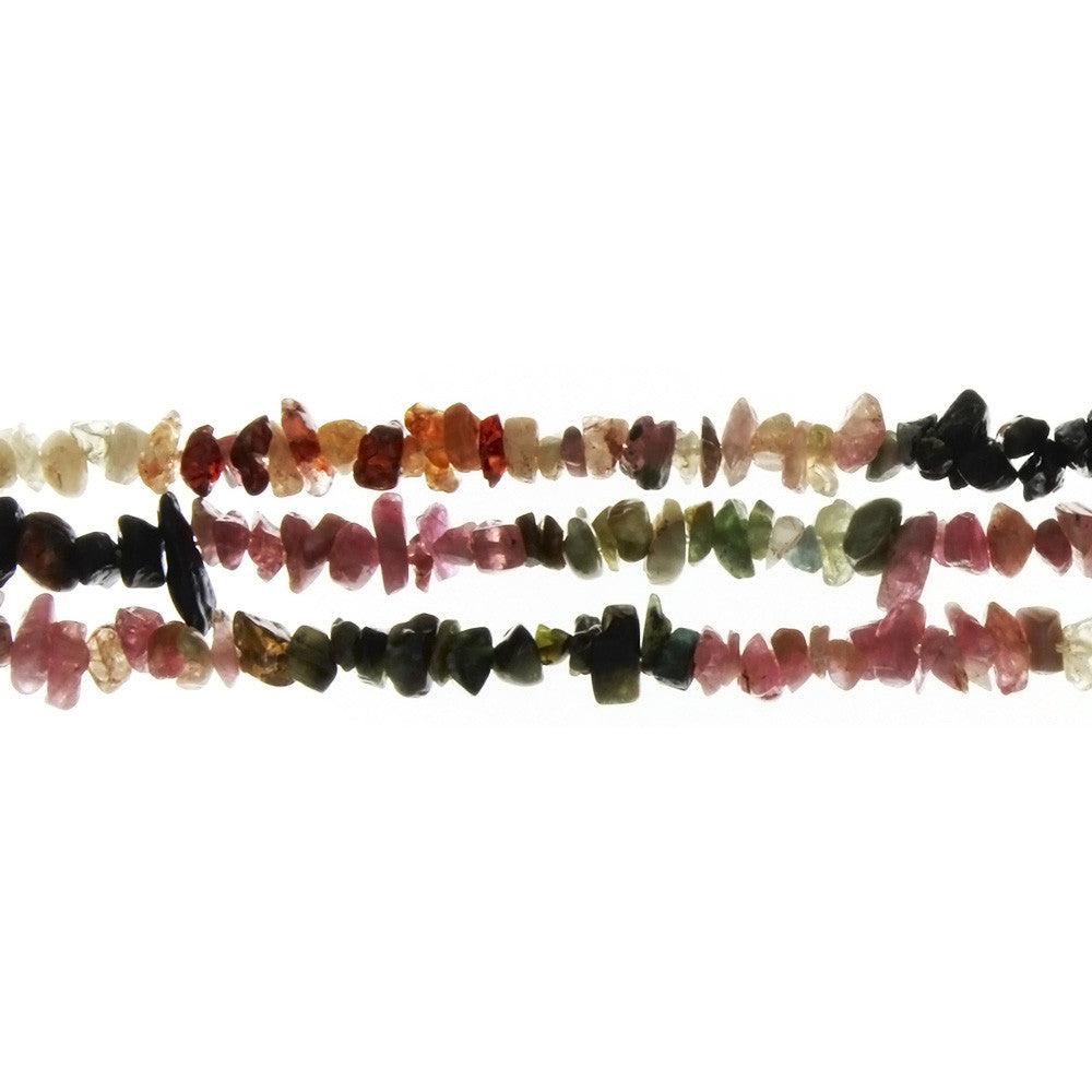 TOURMALINE WATERMELON CHIP STRAND