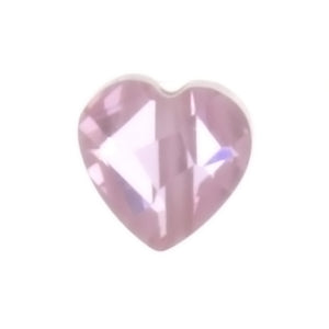 CUBIC ZIRCONIA PINK HEART 6 MM LOOSE (6 PC)