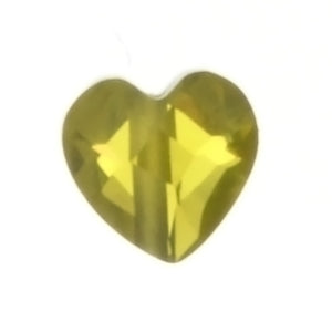 CUBIC ZIRCONIA YELLOW HEART 6 MM LOOSE (6 PC)