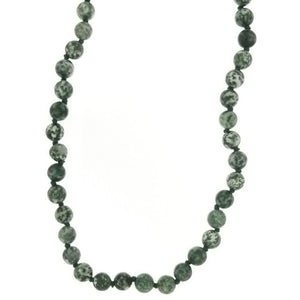 BEADED GEMSTONE TREE AGATE COIN NECKLACE