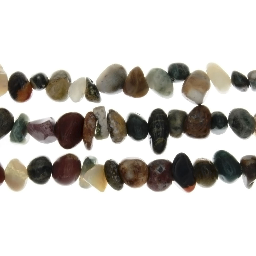 JASPER OCEAN PEBBLE 8 MM STRAND