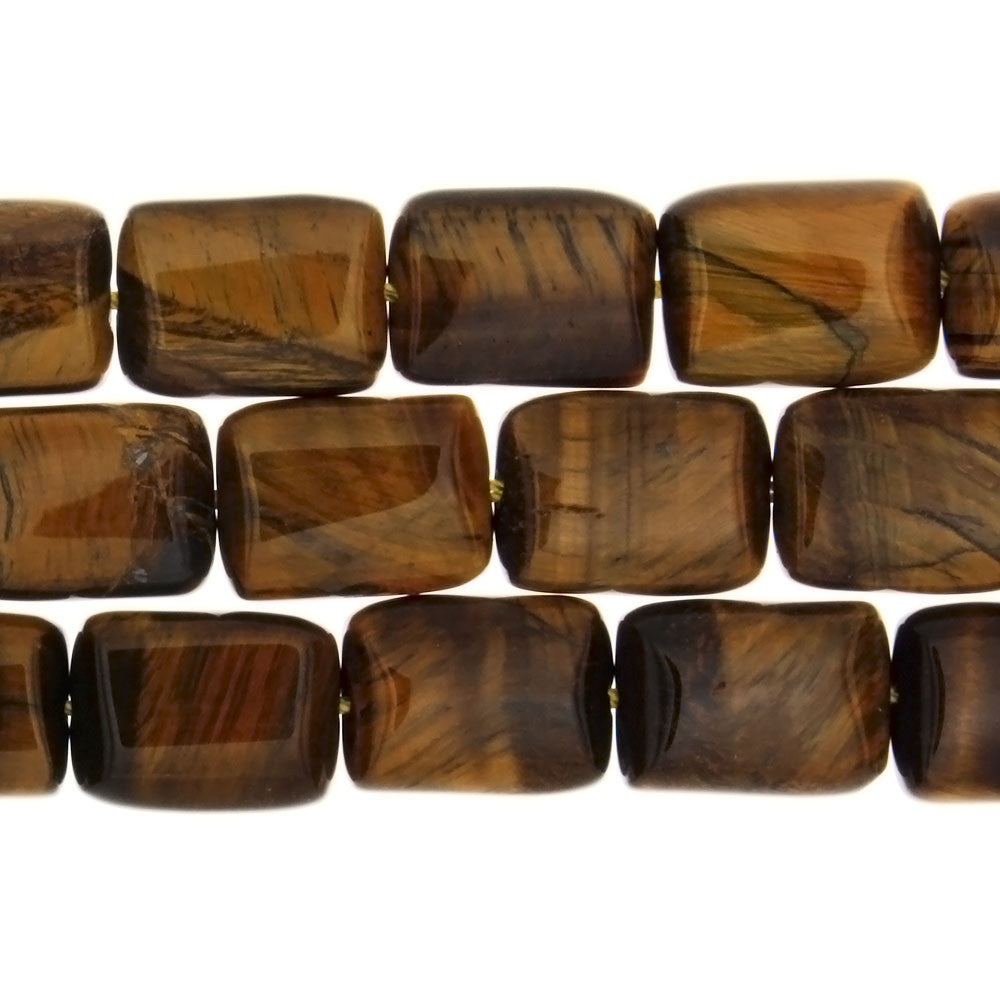 TIGER'S EYE RECTANGLE 12 X 16 MM STRAND