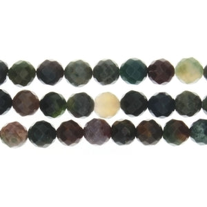 JASPER FANCY ROUND FACETED 8 MM STRAND