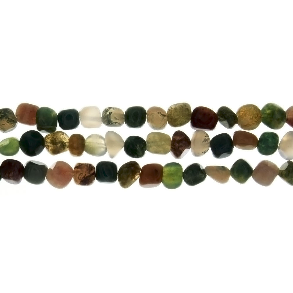 JASPER FANCY PEBBLE 4 MM STRAND