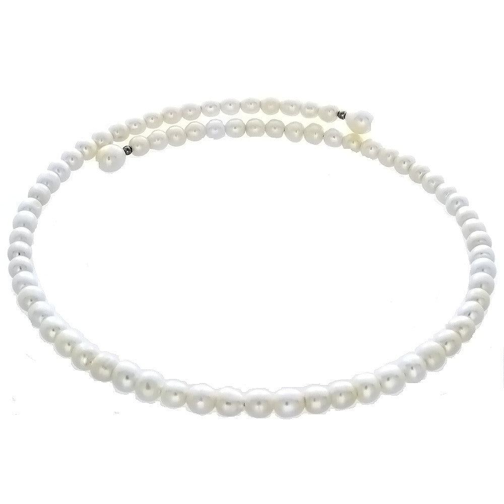 BEADED NATURAL FRESHWATER PEARL POTATO NECKLACE