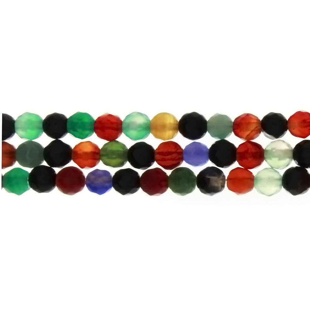 MULTISTONE ROUND FACETED 6 MM STRAND
