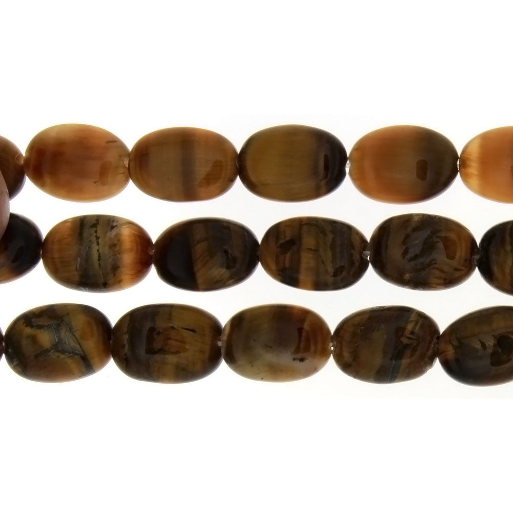 TIGER'S EYE OVAL 10 X 14 MM STRAND