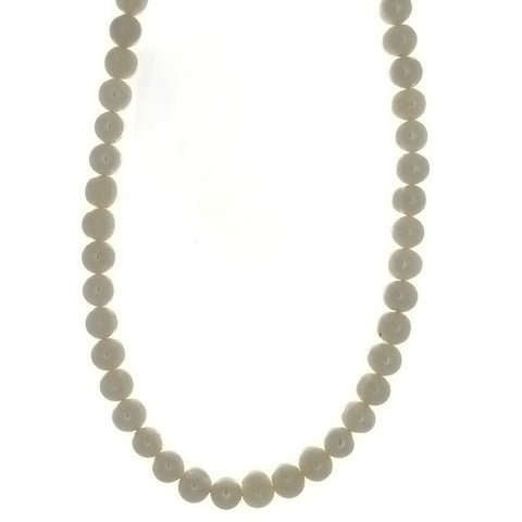 BEADED NATURAL FRESHWATER PEARL POTATO W/ SS CLASP NECKLACE