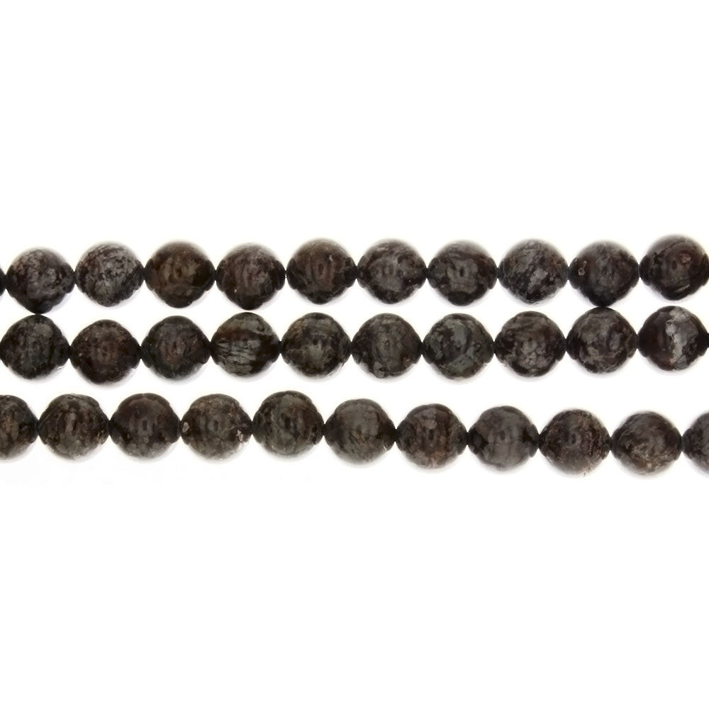 JASPER CHOCOLATE ROUND 8 MM STRAND