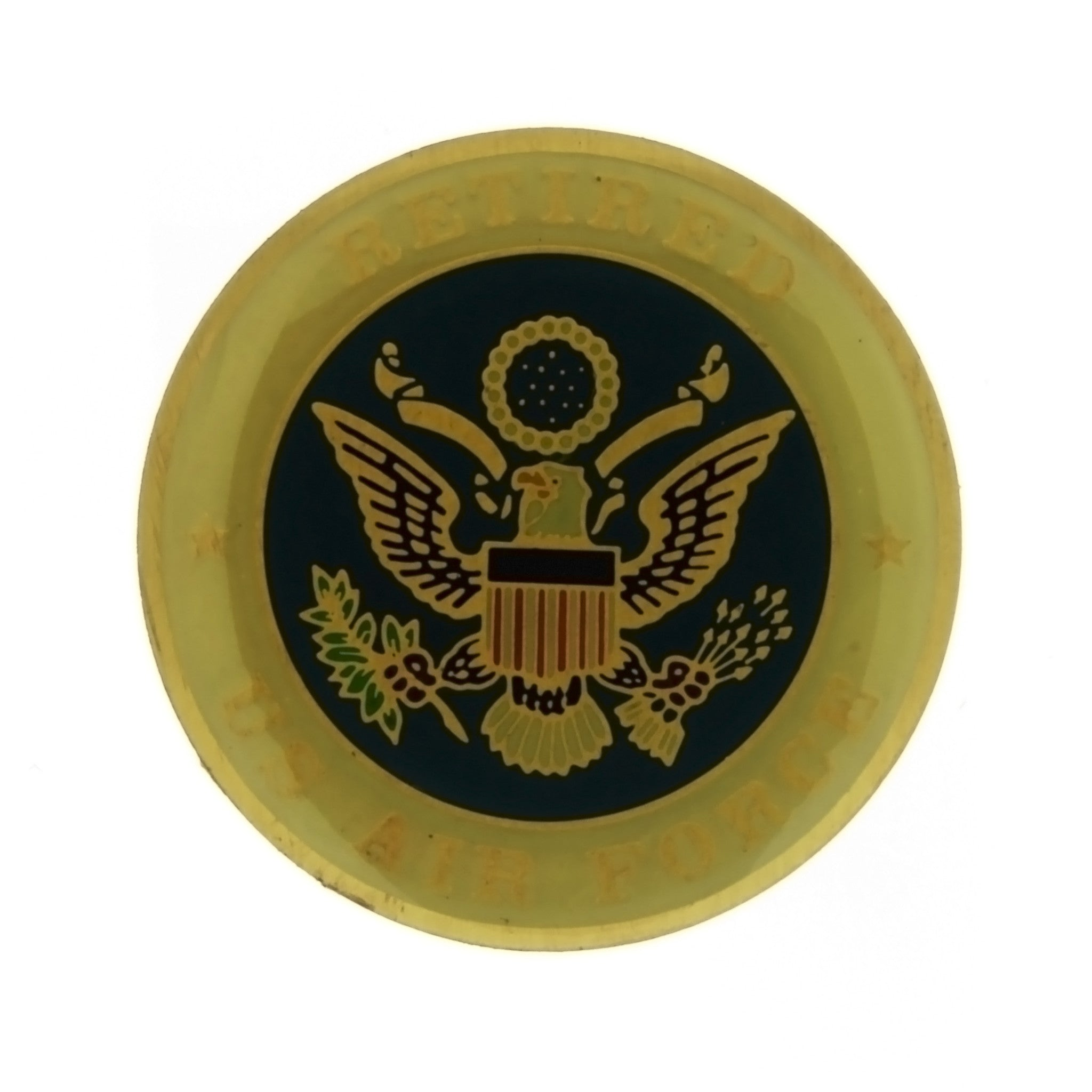 ENAMEL MILITARY AIR FORCE RETIRED INSERT