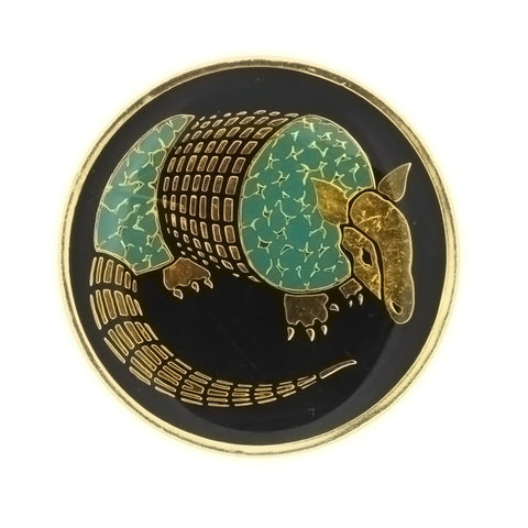 ENAMEL ANIMAL ARMADILLO INSERT