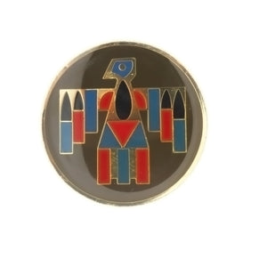 ENAMEL PATRIOTIC AMERICAN INDIAN THUNDERBIRD INSERT