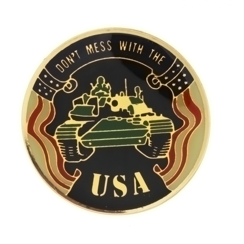 ENAMEL PATRIOTIC DON'T MESS WITH THE USA INSERT