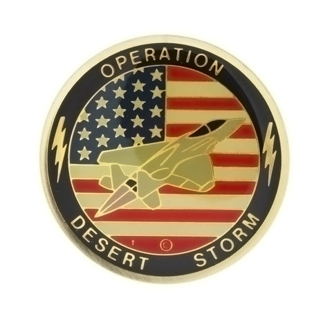 ENAMEL POLITICAL OPERATION DESERT STORM FLAG INSERT