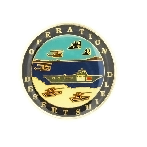 ENAMEL POLITICAL OPERATION DESERT SHIELD INSERT
