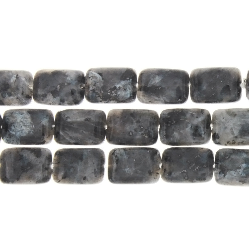 LABRADORITE BLACK RECTANGLE 10 X 14 MM STRAND