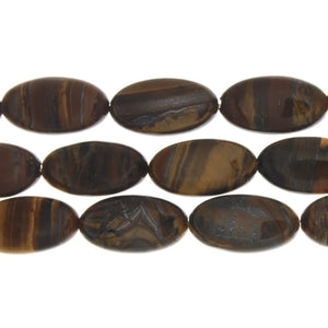 TIGER IRON OVAL 12 X 22 MM STRAND