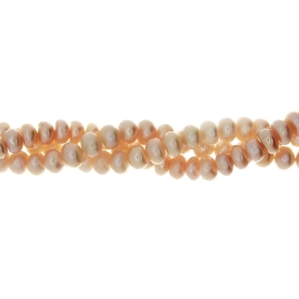 PEARL FW RONDELLE 4 X 6 MM STRAND