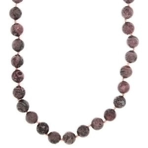 BEADED GEMSTONE LAGUNA LACE AGATE ROUND NECKLACE