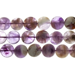 AMETHYST COIN 12 MM STRAND